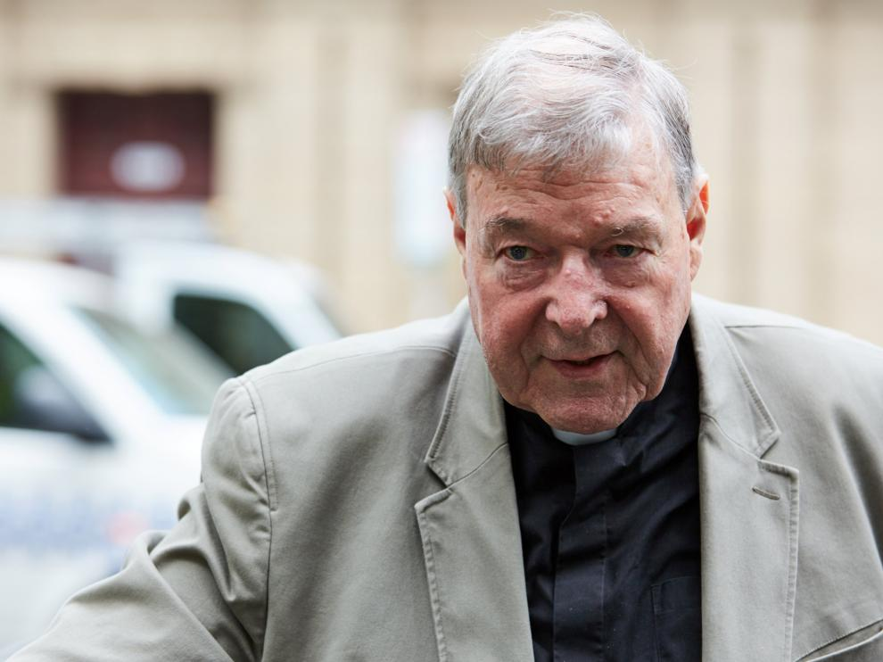 Cardinal George Pell arrives at the County Court in Melbourne, Australia February 26, 2019. AAP Image/Erik Anderson/via REUTERS ATTENTION EDITORS - THIS IMAGE WAS PROVIDED BY A THIRD PARTY. NO RESALES. NO ARCHIVE. AUSTRALIA OUT. NEW ZEALAND OUT. NO COMMERCIAL OR EDITORIAL SALES IN NEW ZEALAND. NO COMMERCIAL OR EDITORIAL SALES IN AUSTRALIA.
