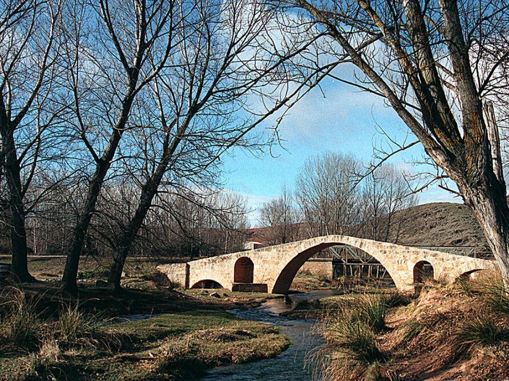 Puente romano de Luco de Jiloca, en Teruel.