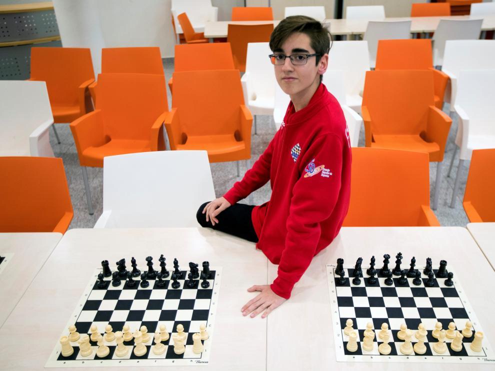 Pedro Ginés, campeon del mundo de ajedrez sub-14.