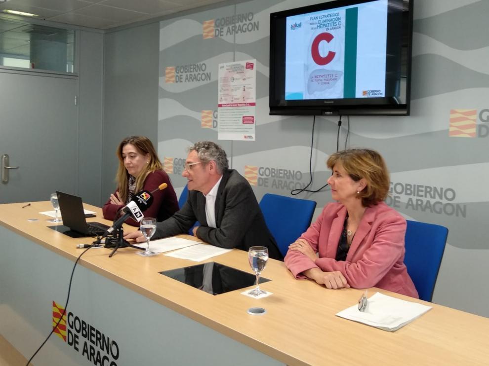 Momento de la presentación del plan para eliminar la hepatitis C.