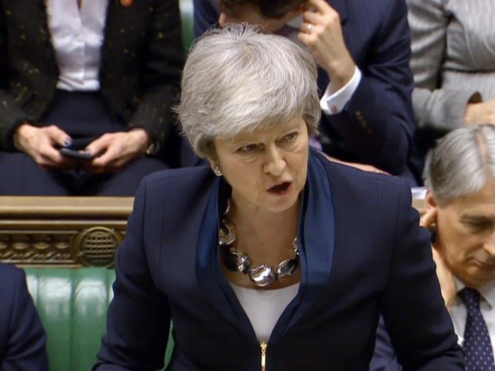 La primera ministra britanica, Theresa May.