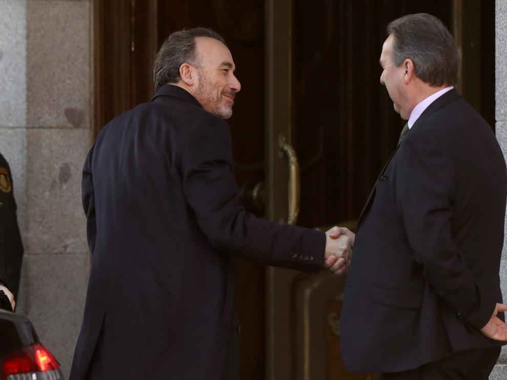 El presidente del tribunal, Manuel Marchena, a su llegada al Supremo este miércoles.