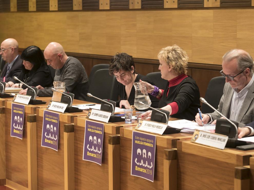 Pleno del Ayuntamiento de Huesca / 27-2-19 / Foto Rafael Gobantes [[[FOTOGRAFOS]]]