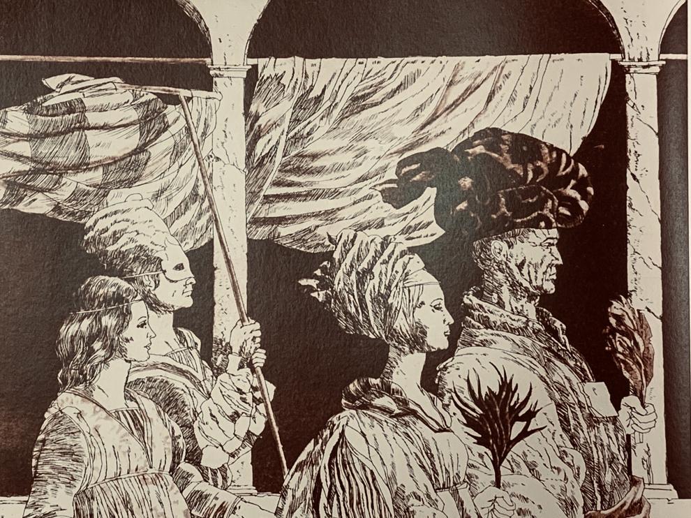 Uno de los grabados de Natalio Bayo.