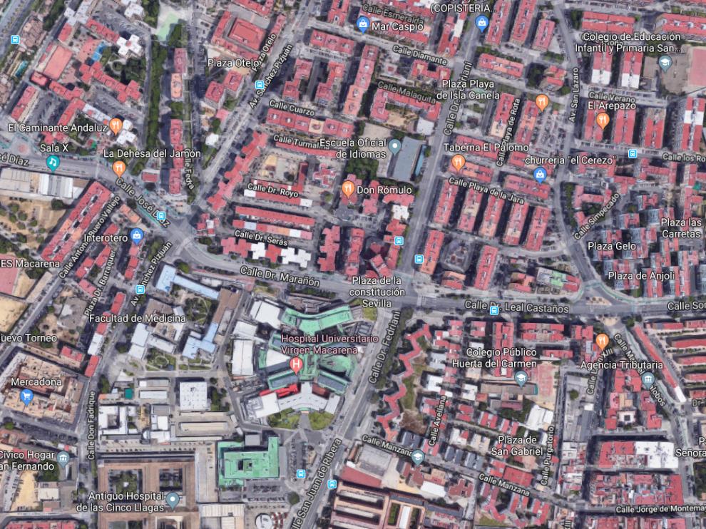 El suceso ha tenido lugar en la avenida de Doctor Fedriani de Sevilla capital, a la altura del Hospital Virgen Macaren