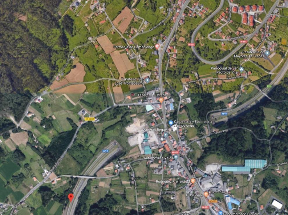 El suceso ocurrió en el kilómetro 15 de la AP 9 de Galicia, cerca de Ferrol.