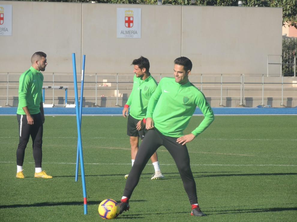 Fran Rodríguez en un entrenamiento tras su recuperación.
