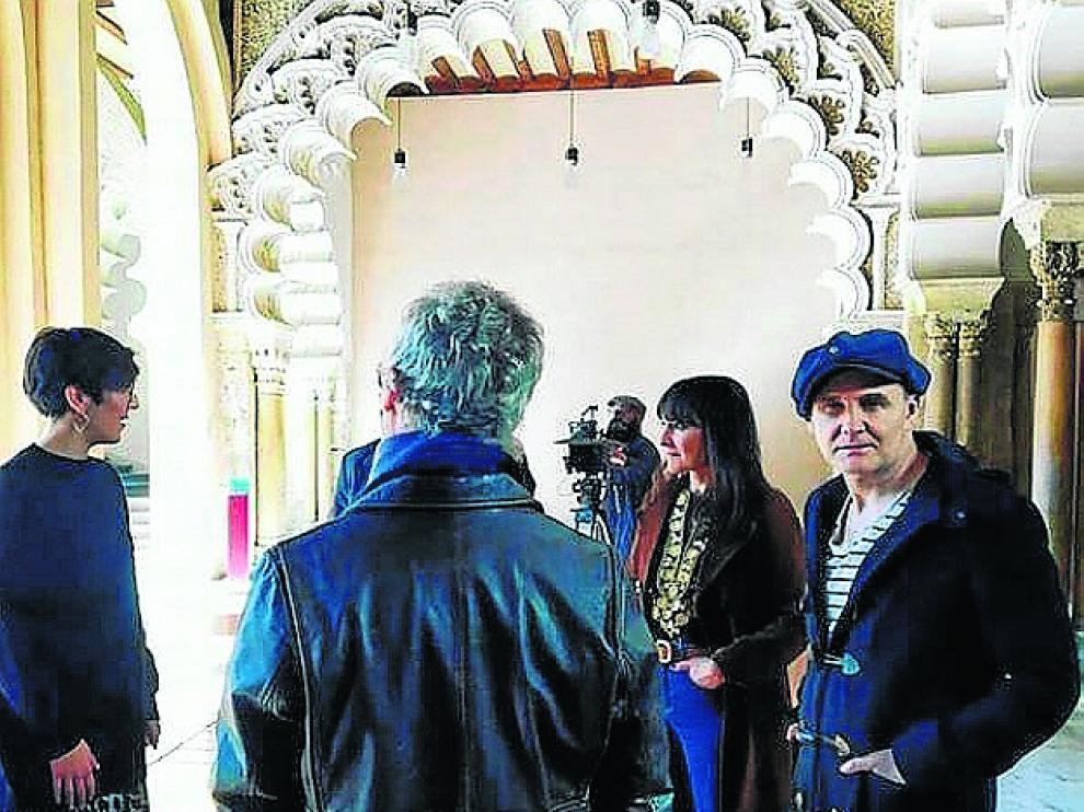 Violeta Barba y Amaral en la Aljafería.