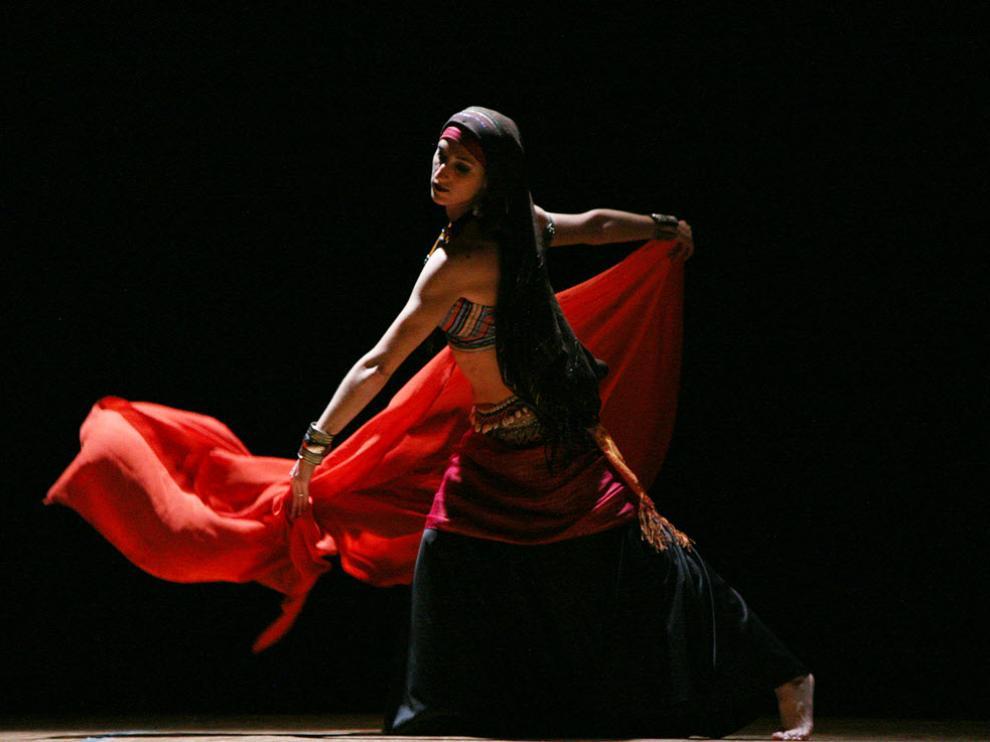 Actuación de danza de la compañía altoaragonesa Carme Diem, en la edición anterior de la muestra.