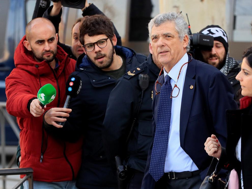 Ángel María Villar, a su llegada a la Audiencia Nacional.