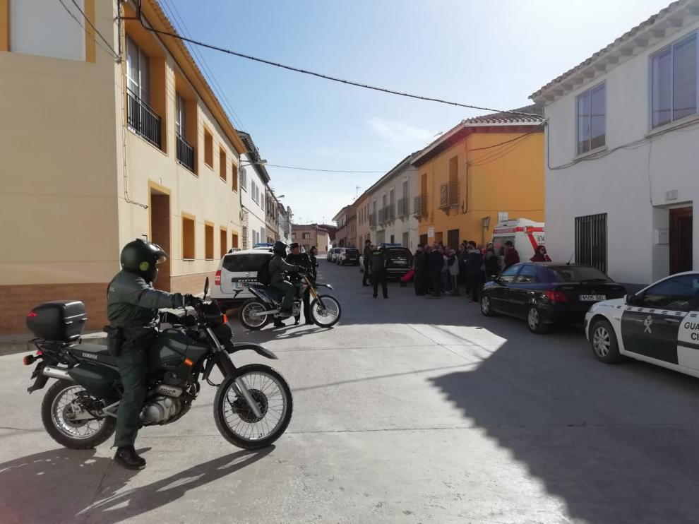 La Guardia Civil montó un amplio dispositivo de búsqueda para buscar a la anciana en Leciñena.