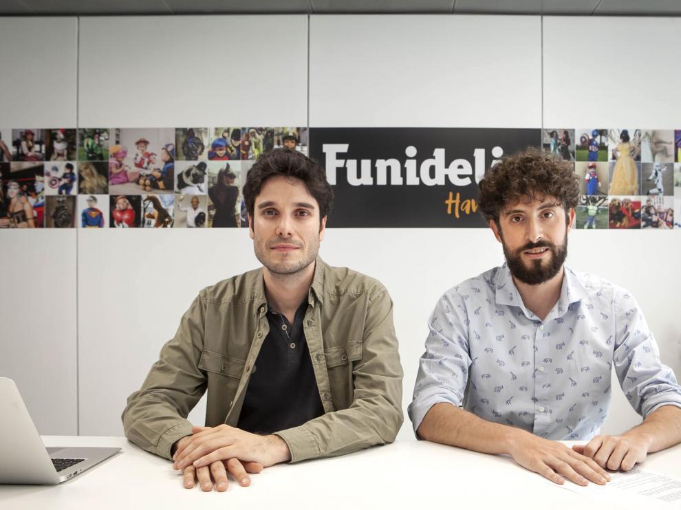 Carlos Larraz y Toño Escartín son los fundadores de Funidelia.