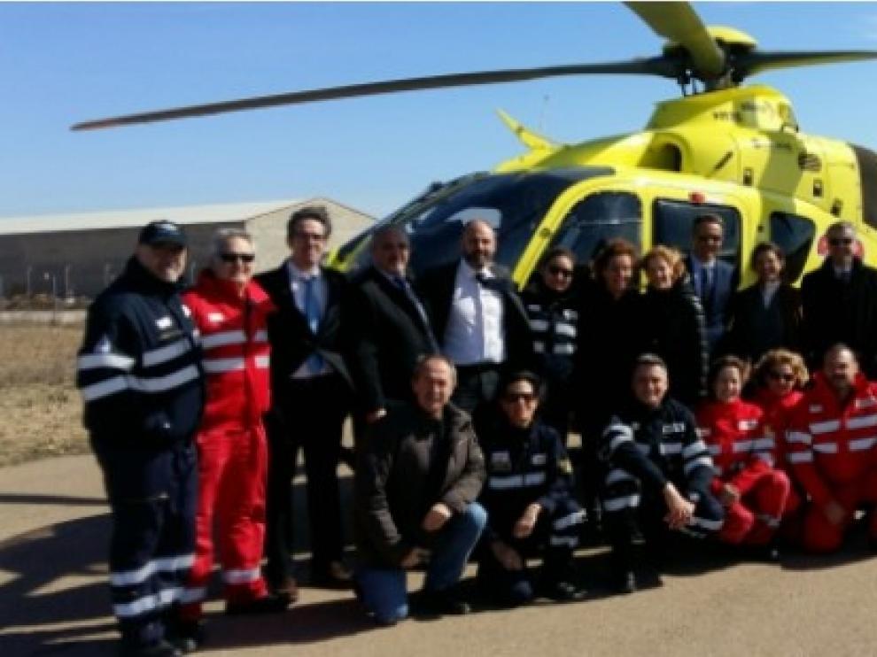 Los nuevos helicópteros sanitarios de Aragón