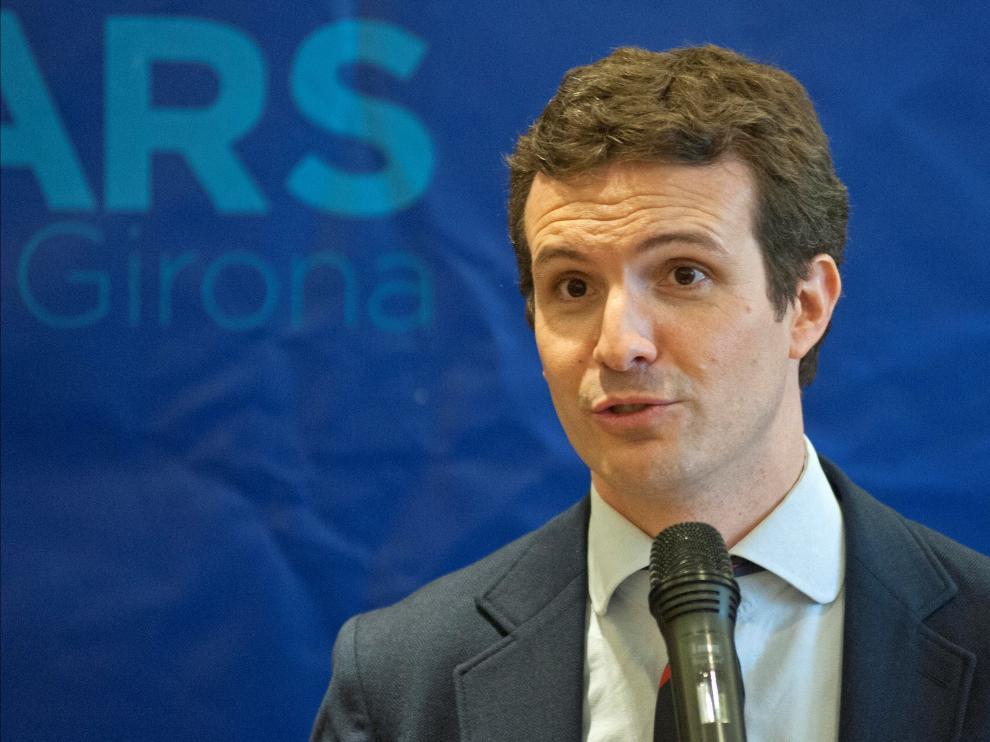 El presidente nacional del PP, Pablo Casado.
