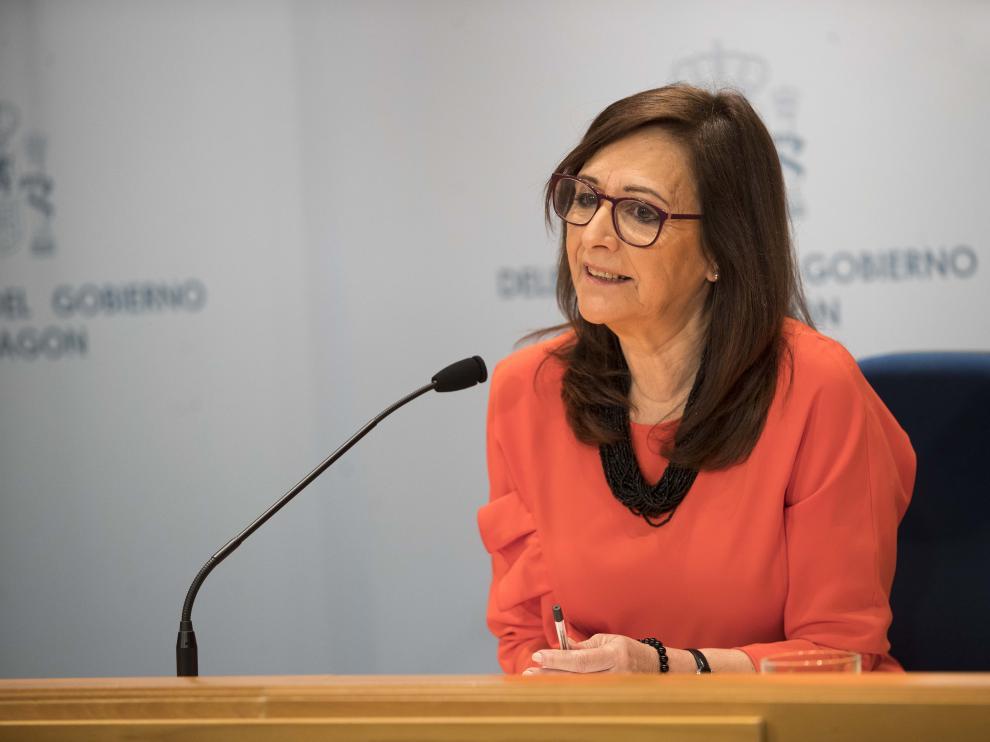 Carmen Sánchez, delegada del Gobierno en Aragón, este viernes.