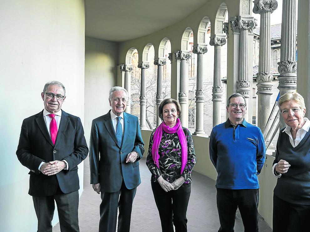 Fernando Gimeno, Modesto Lobób, Mª Antonia Avilés, Andrés Cuartero y Carmen Solano