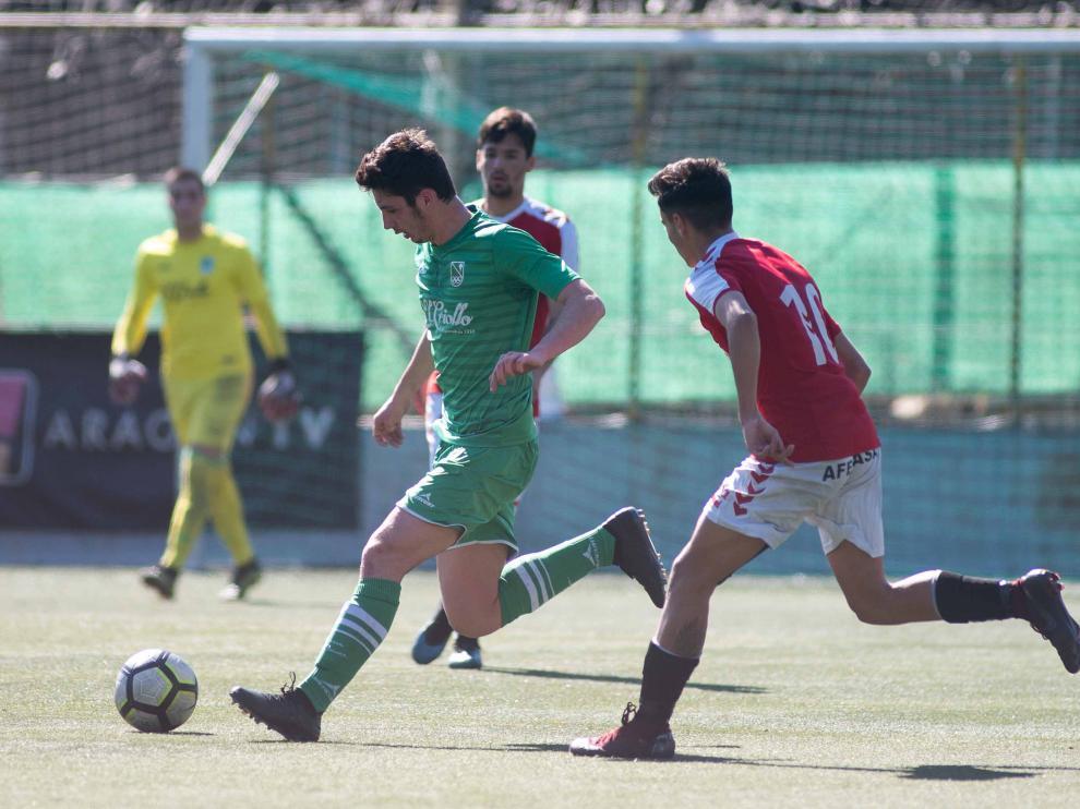 Imagen del encuentro disputado en el Gregorio Usabel entre el Stadium Casablanca- Gimnástic.
