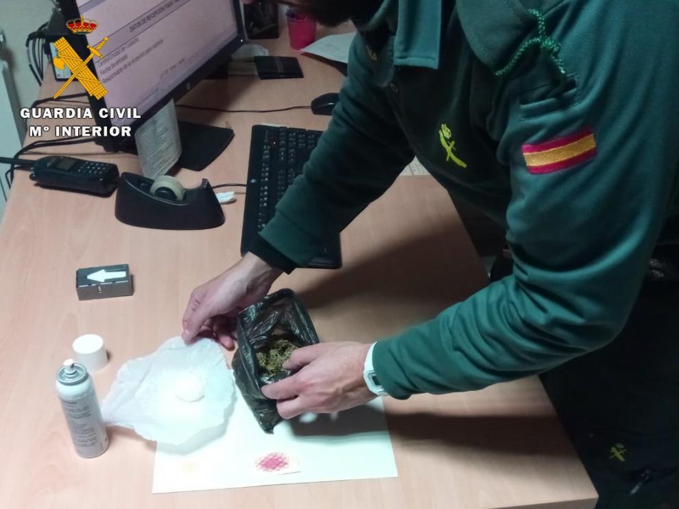 Foto de archivo de una operación antidroga de la Guardia Civil en Huesca