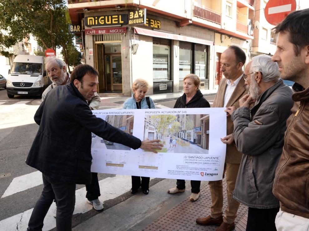 La cota cero se extiende a la calle Santiago Lapuente en el barrio Jesús