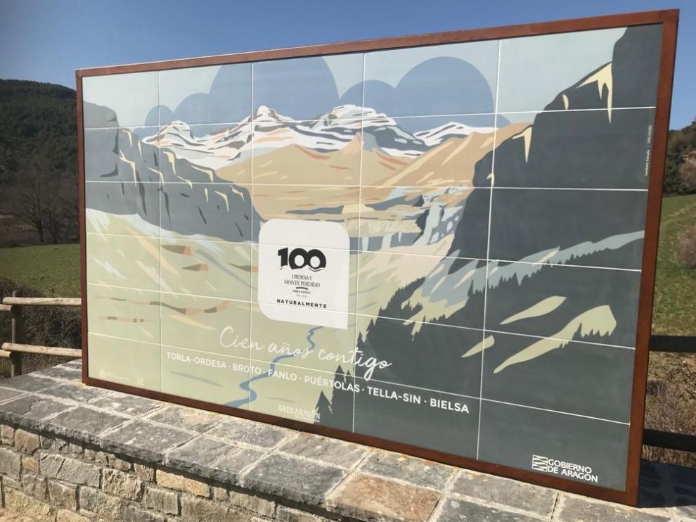 Nuevos murales del centenario del Parque Nacional de Ordesa y Monteperdido.
