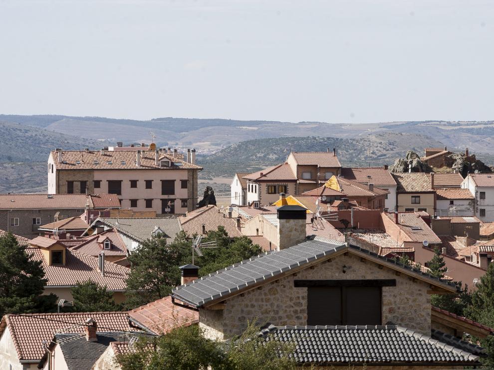 Vista de Bronchales, en la Sierra de Albarracín.
