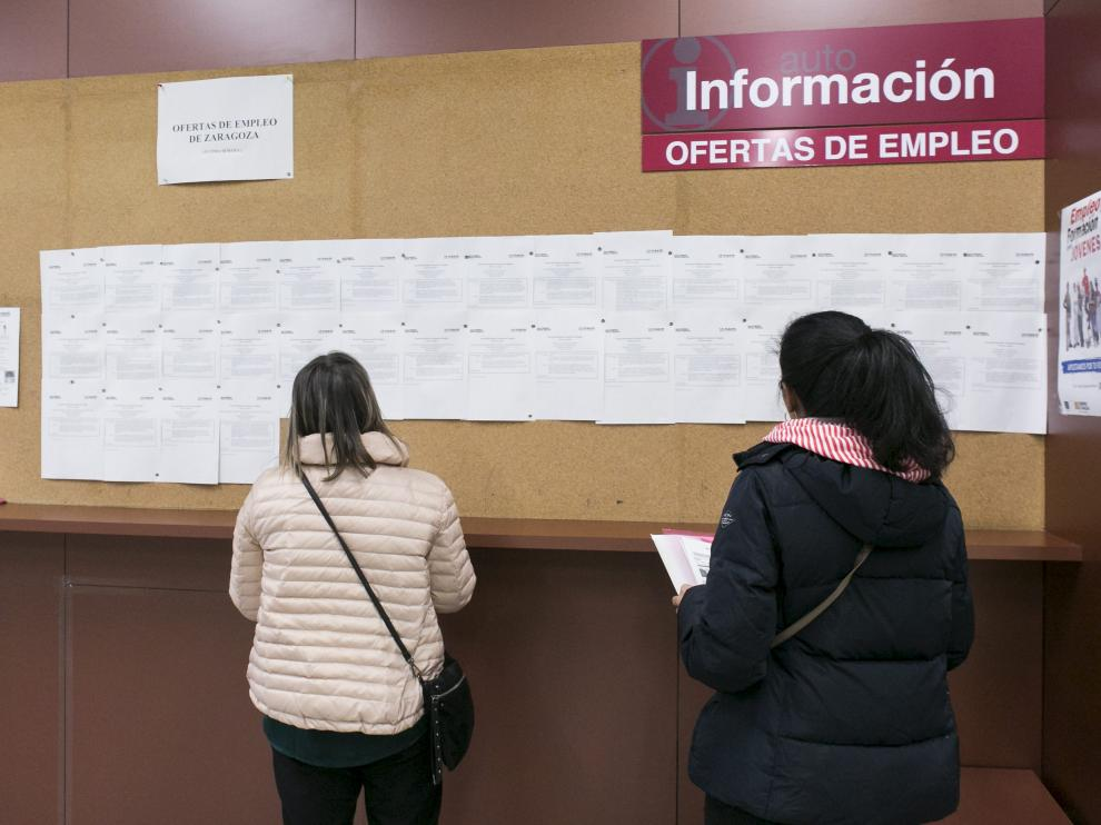 ECONOMIA OFICINA DEL INAEM DE COMPROMISO DE CASPE / 24-02-2017 / FOTO: ARANZAZU NAVARRO