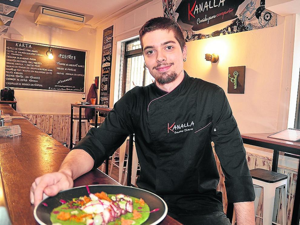 Daniel Ferrer, cocinero de la gastro taberna zaragozana Kanalla.