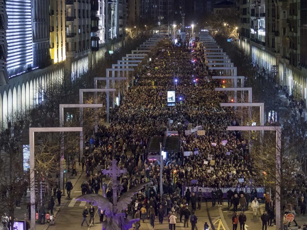 Manifestación Zaragoza 8M
