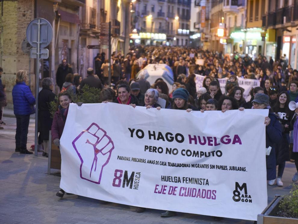 Manifestación del 8M del año pasado en Huesca