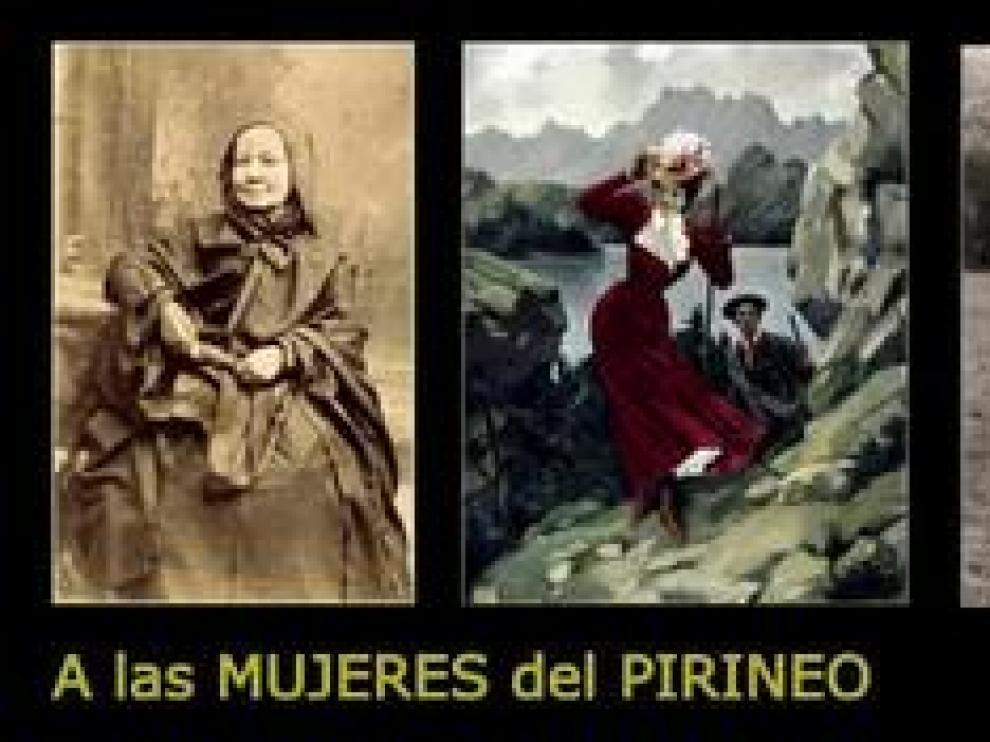 En Llanos del Hospital también han querido mostrar su apoyo a las mujeres, en este caso a las del Pirineo, haciendo un repaso a su historia.