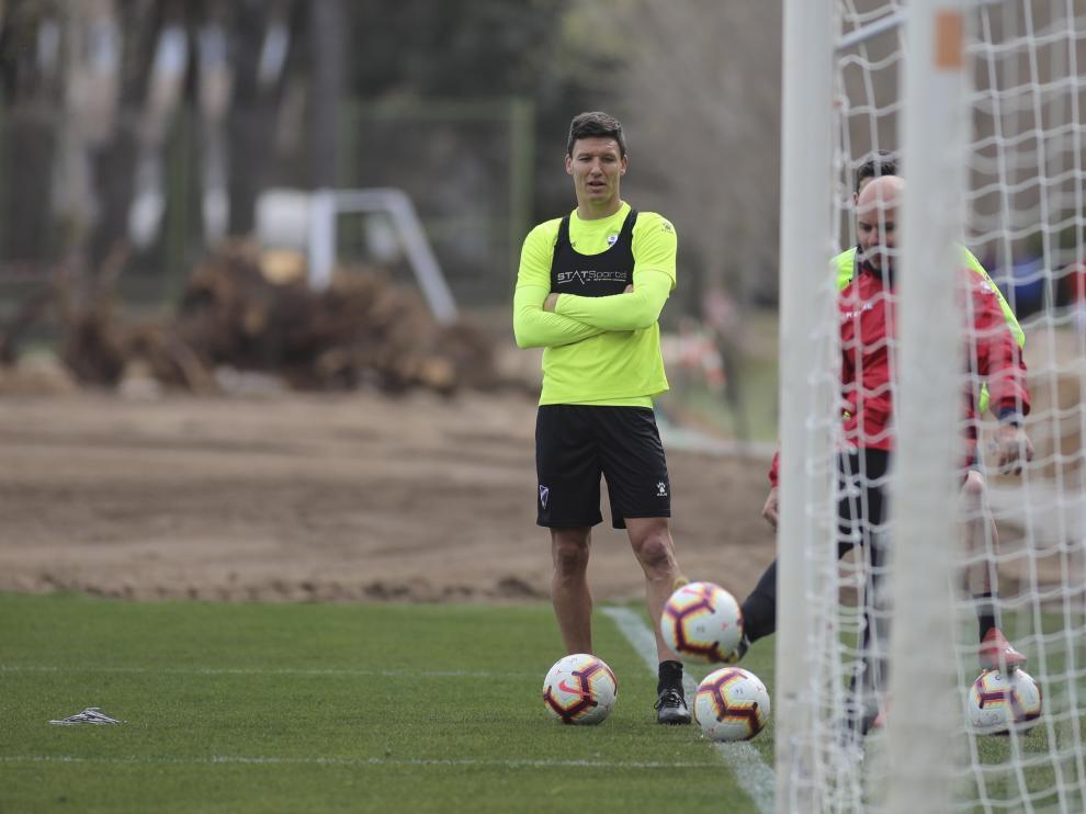Damián Musto, jugador de la SD Huesca