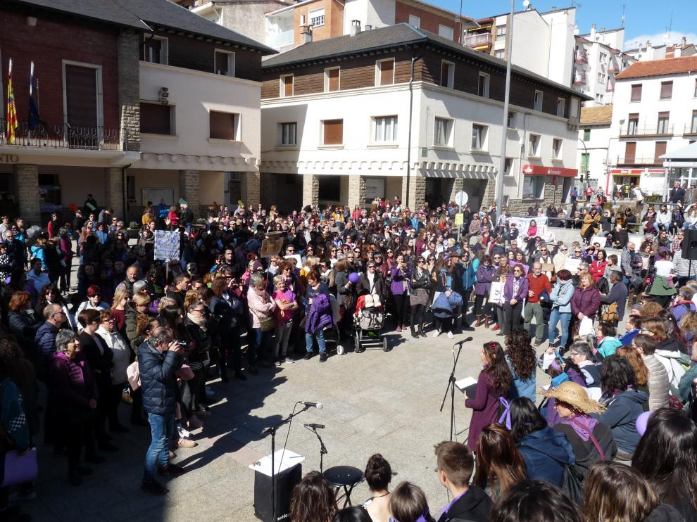 Manifestación del 8 de marzo en Sabiñánigo