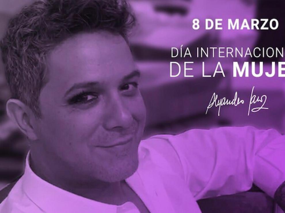 Críticas a Alejandro Sanz por pintarse un ojo en nombre de las mujeres.
