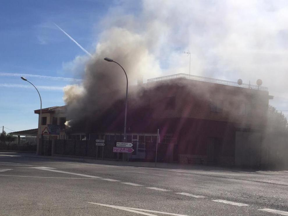 Incendio en un bar de Lanaja, en Huesca.