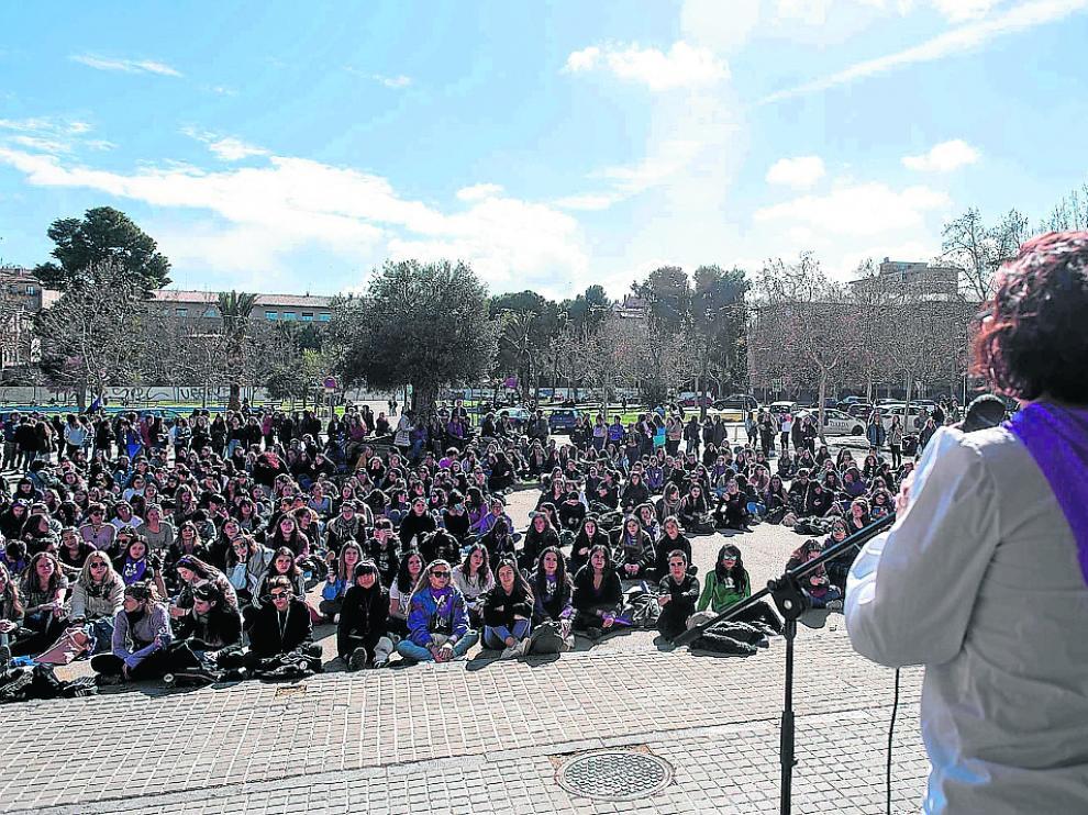 Manifestaciones del 8.M en el campus de San Francisco