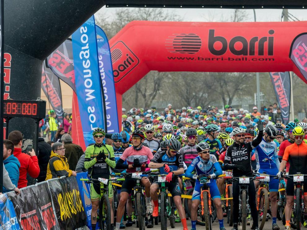Una imagen de la Vuelta Aragón BTT.