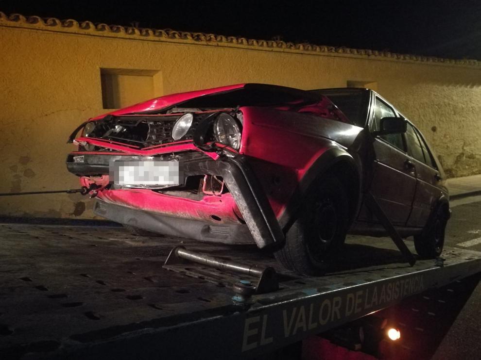 Accidente coche Pinseque