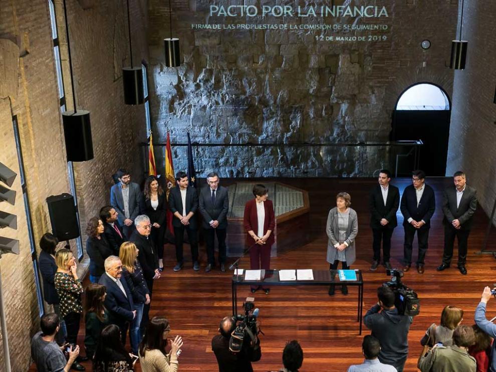 Acto celebrado en el Palacio de la Aljafería.