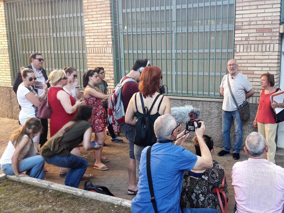 Rodaje del documental que protagonizan los vecinos de Torrero