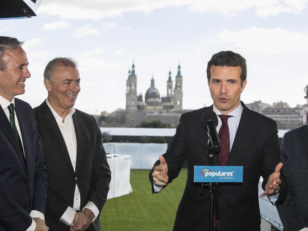 Casdo, en su visita a Zaragoza.