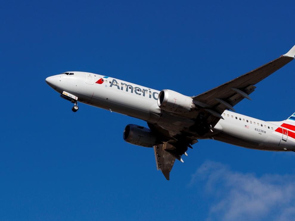 Un avión Boeing 737 Max 8 de American Airlines