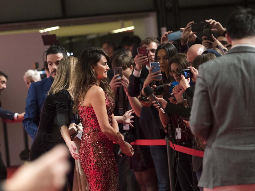 Penélope Cruz, en gala de los Premios Forqué que se celebró en Zaragoza.