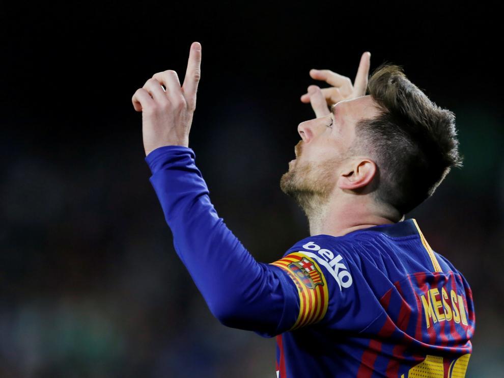 Messi durante el partido contra el Betis.