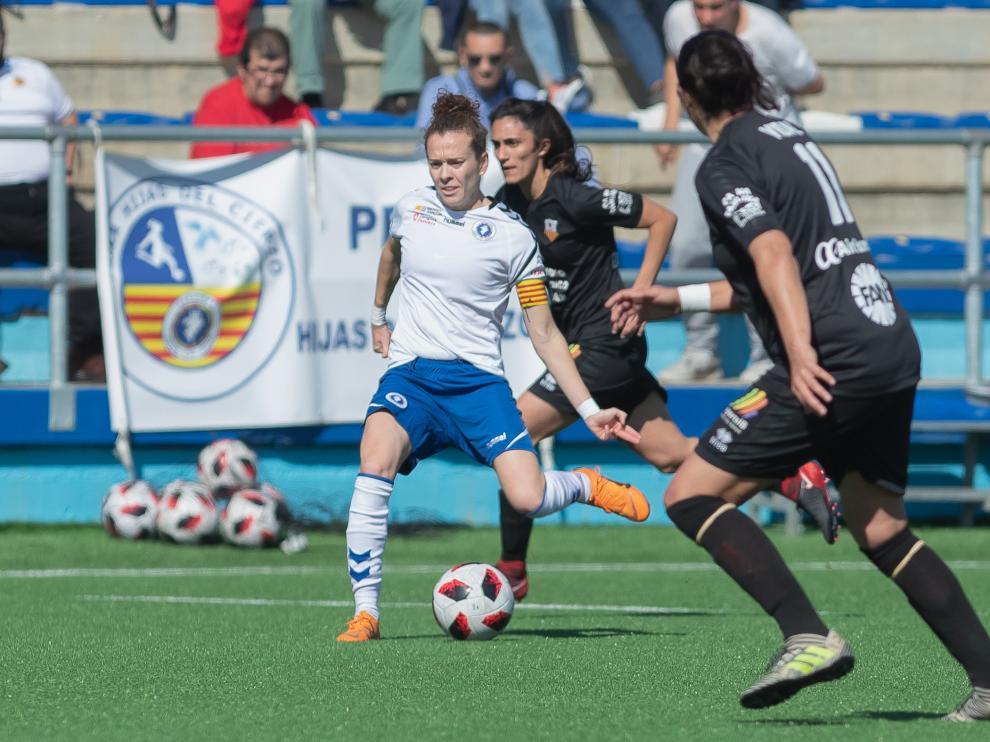 Imagen del Zaragoza Femenino-UD Collerense de este domingo.