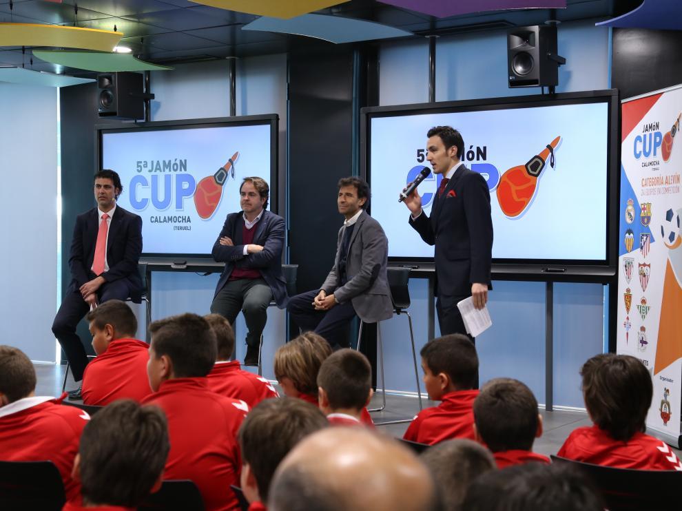 Presentación de la Jamón Cup de Calamocha en la sede de LaLiga en Madrid