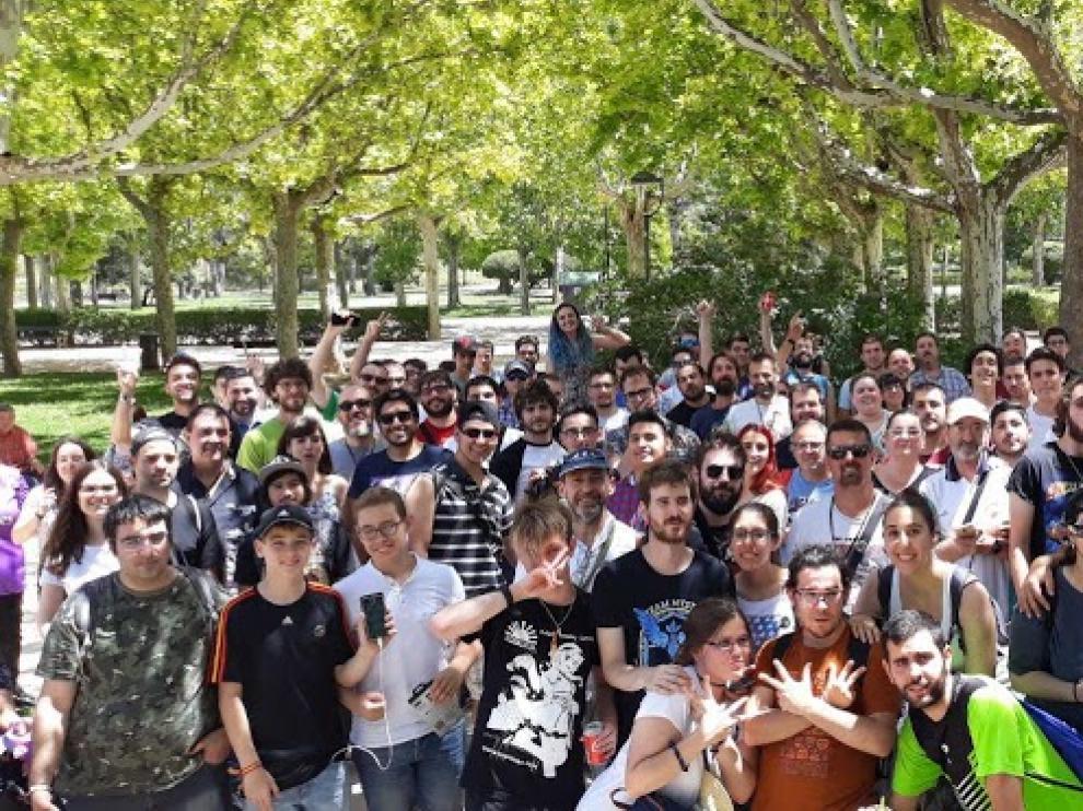 Participantes de una edición anterior del Community Day de Pokémon Go
