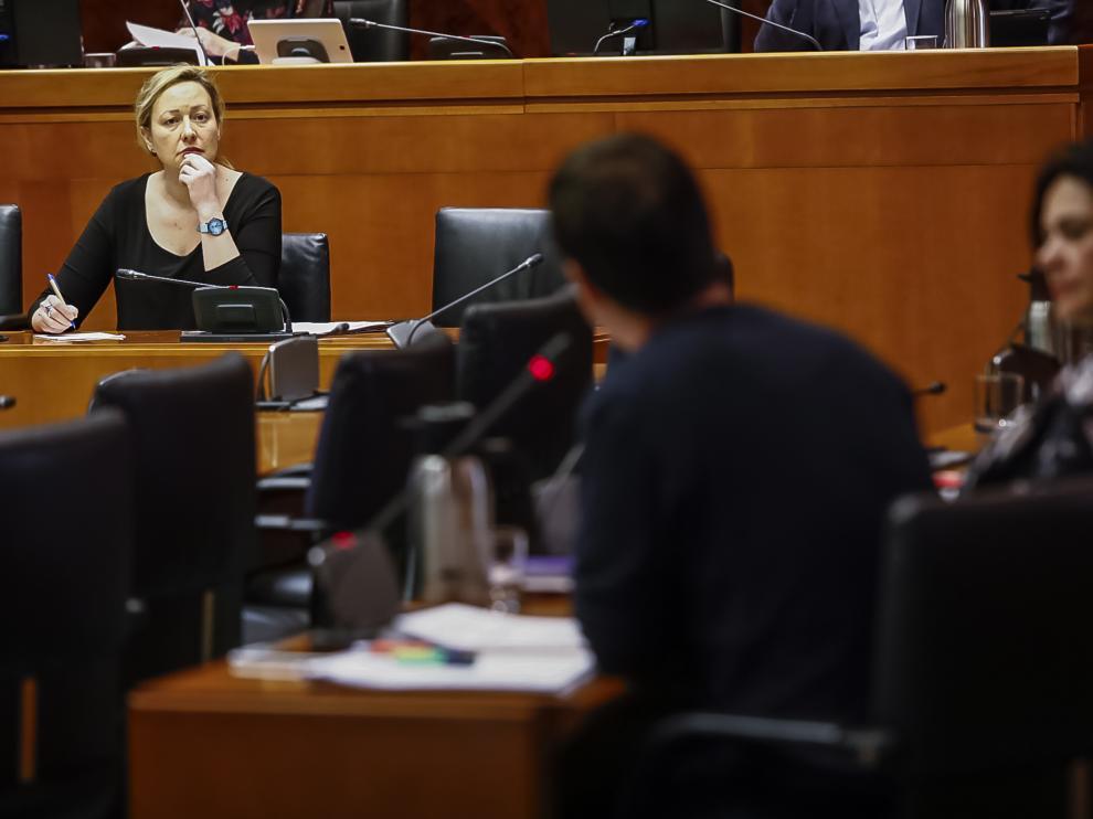 Gastón, este martes en la comisión de Economía de las Cortes de Aragón