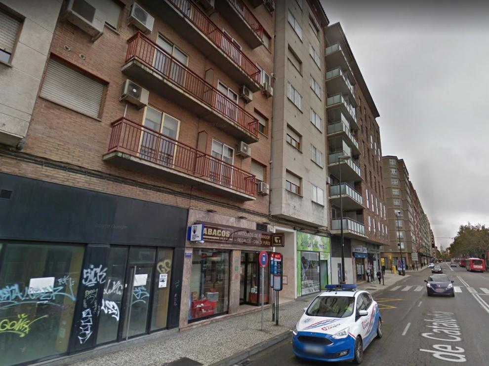 Una imagen de la avenida de Cataluña, donde se produjo la detención del preso fugado, de 25 años.