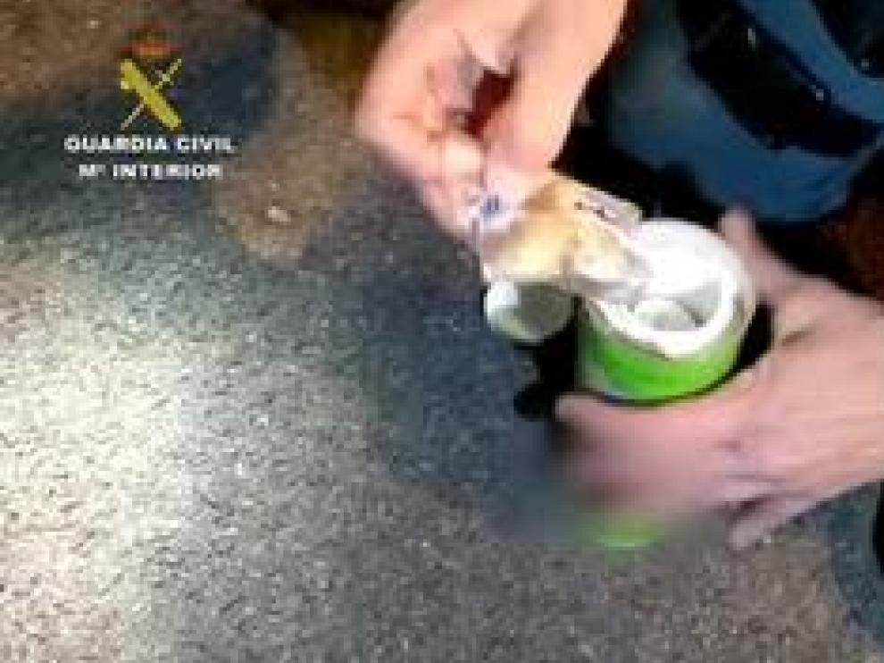 La droga fue hallada en Zaragoza en el interior de un turismo ocupado por 3 personas