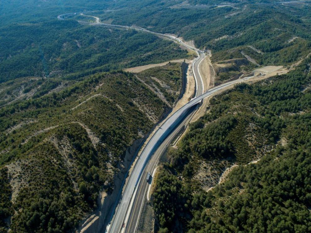Imagen aérea de uno de los nuevos tramos del puerto